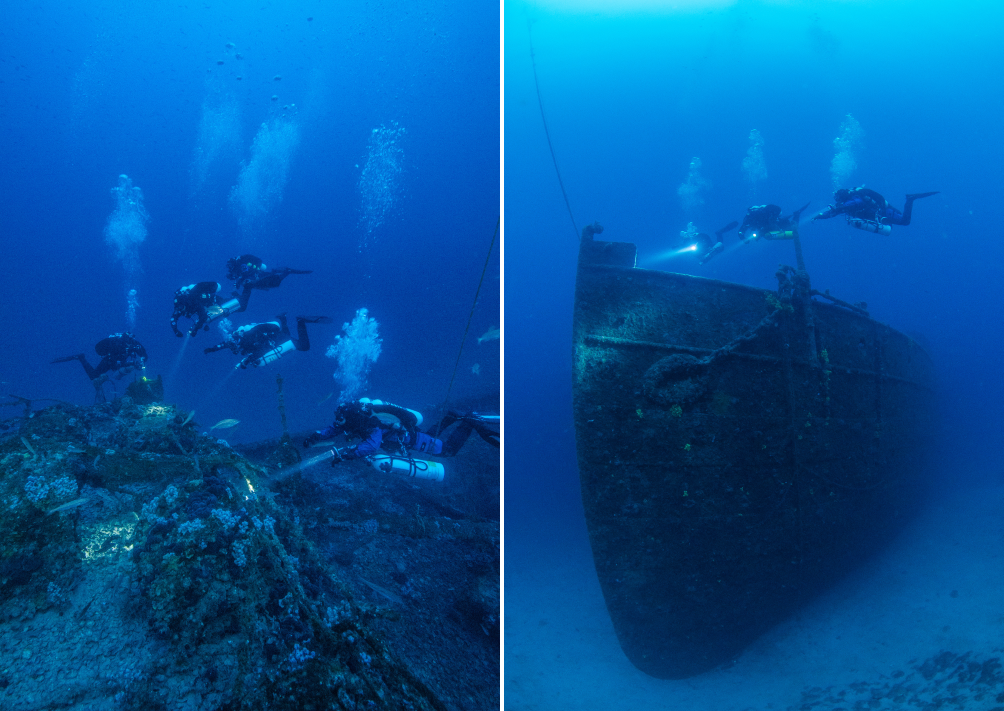 Ship wreck technical diving
