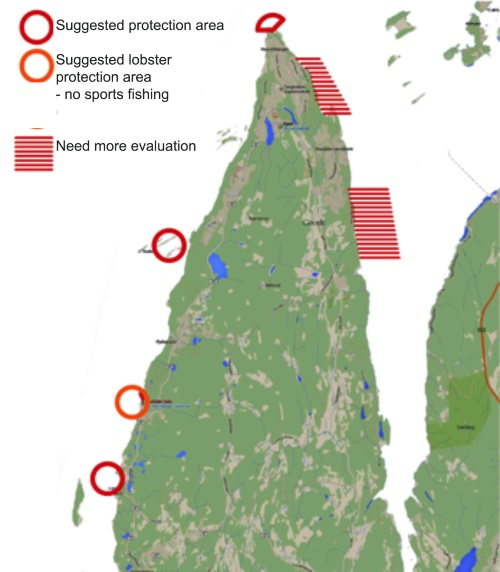 Suggested plan for lobster reserve - Nesodden Norway