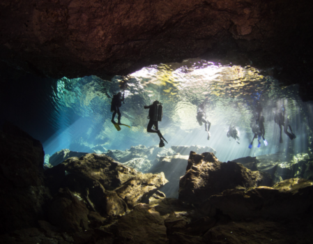 Cave diving in Cenotes - Mexico